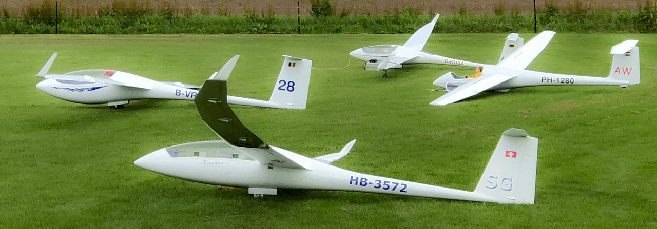 Gliders ready for flight