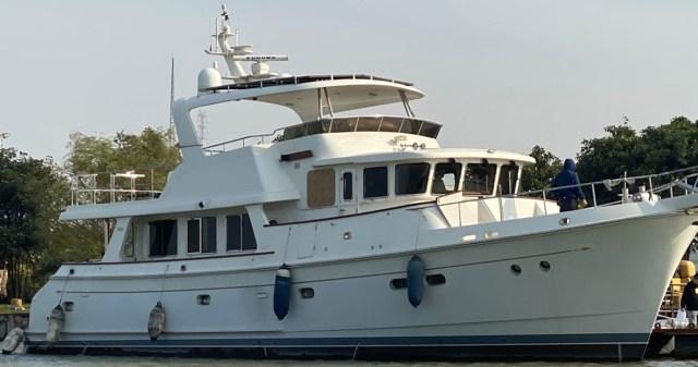 Destiny on the boat yard dock