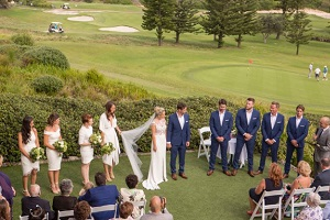 Wedding Venue Ceremony Overlooking the Golf Course
