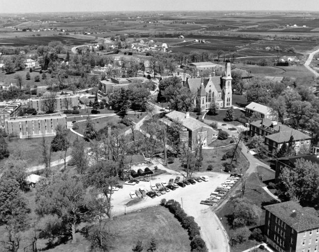 Aerial photograph of Cornell College