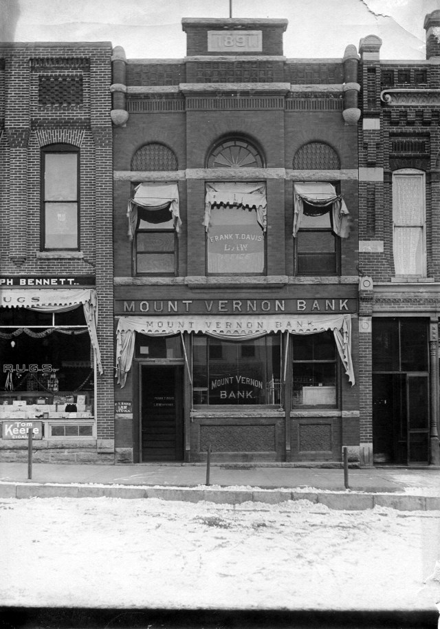 photo of Mount Vernon Bank @1891