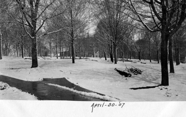 photo of Snowy Cornell Campus Postcard