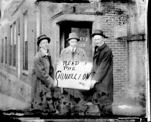 photo of Unidentified Cornell Students with the Cornellian