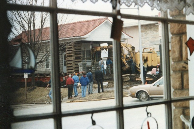 photo of Moving the Wolfe Brother's Office