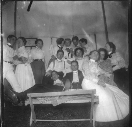 photo of Unidentified Men and Women at a Picnic