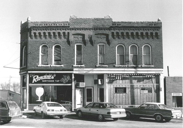 Photo of building at 101-103 First Street E. Photographed 1990 by Barbara Beving Long.