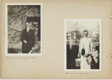 Two photos of Ralph E. Albright. Mount Vernon High School teacher.