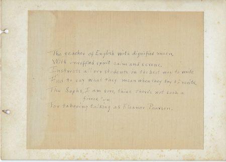 Photo of Poem to Eleanor Pearson, Mount Vernon High School