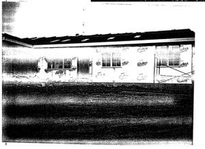 Photo of construction of Covington house