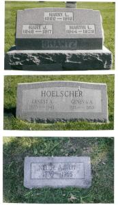 Photo of Shantz family graves