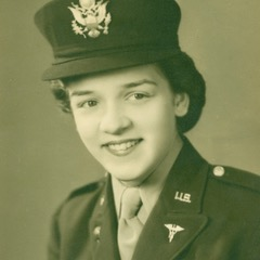 Photo of Dorothy Johnson dressed as a Army Nurse