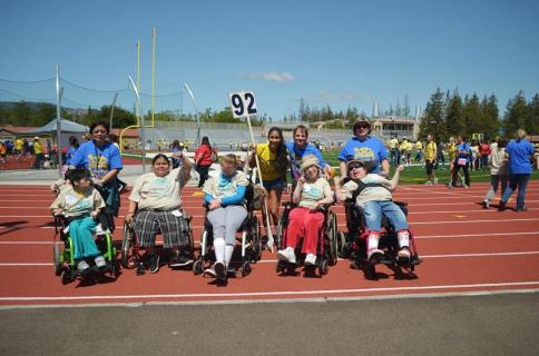 Sunkara at the Kiwanis Special Olympics Games in May, 2013