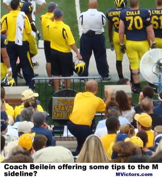 John Beilein at Michigan football game