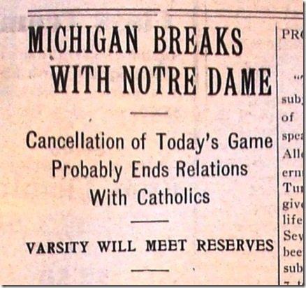 001 michigan breaks with notre dame