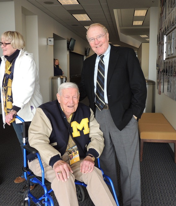 Don Lund, Bump Elliott at Michigan-Iowa 2012