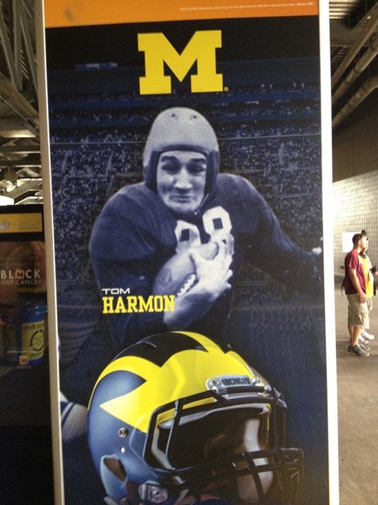 Tom Harmon inside Michigan Stadium