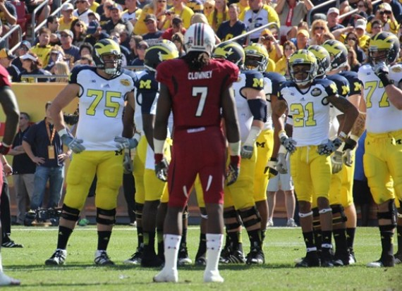 Jadeveon Clowney and Michigan offense