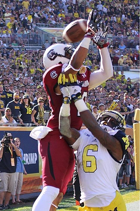 Michigan pass break-up - 2013 Outback Bowl