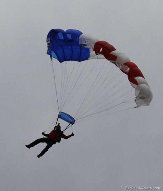 U-M Stadium Parachutist