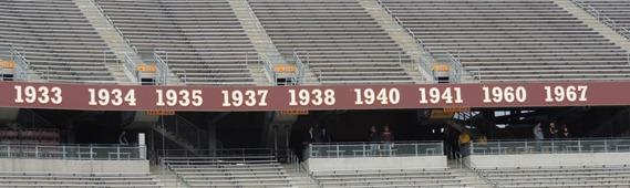 Minnesota football league titles in Stadium
