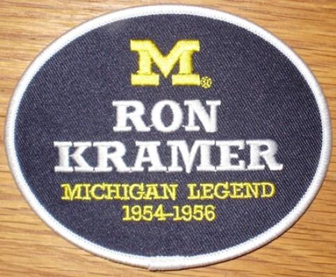 Ron Kramer #87 - Michigan Football Legends Patch