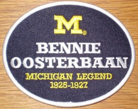 Bennie Oosterbaan #47 - Michigan Football Legends Patch
