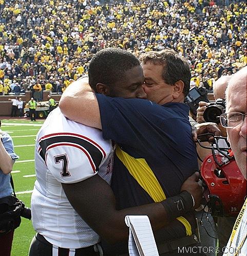 Brady Hoke big Hug