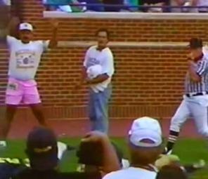 pink shorts guy