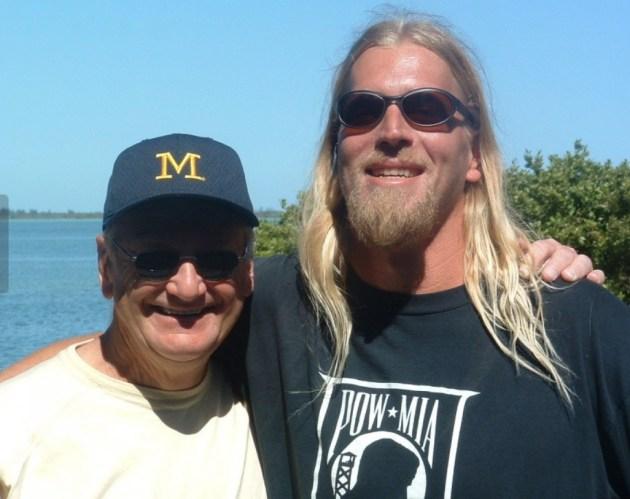 Steve Everitt and Bo Schembechler in 2003 (cleveland.com)