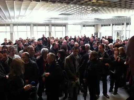 Les chauffeurs de bus se sont réunis au dépôt à Rennes. Ouest-France