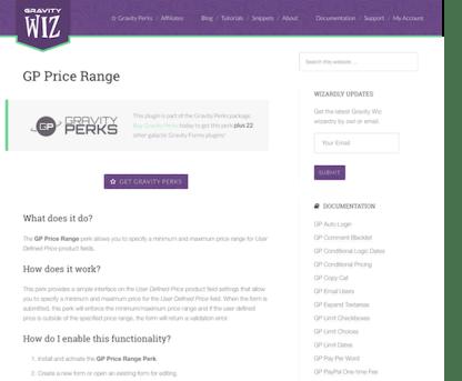 Gravity Perks: Price Range