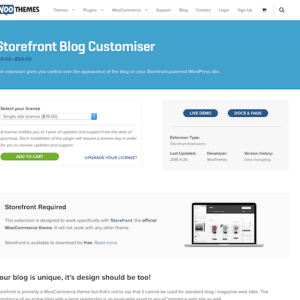 WooThemes – Storefront: Blog Customiser