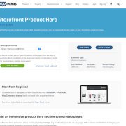 WooThemes – Storefront: Product Hero