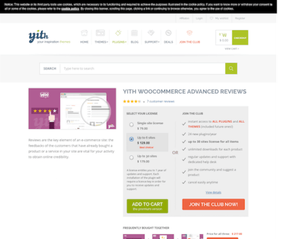 YITH WooCommerce: Advanced Reviews Premium