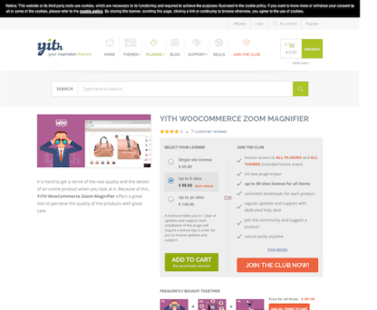 YITH WooCommerce: Zoom Magnifier Premium