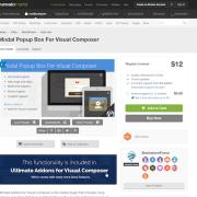Codecanyon: Modal Popup Box For Visual Composer