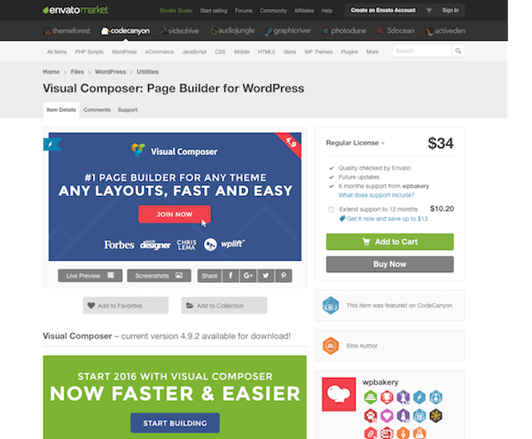 Codecanyon: Visual Composer: Page Builder for WordPress
