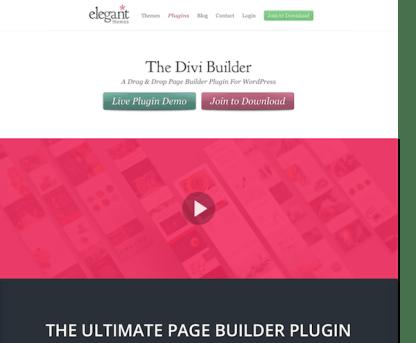 Elegant Themes: Divi Builder WordPress Plugin