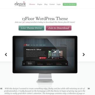 Elegant Themes: 13Floor WordPress Theme