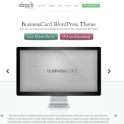 Elegant Themes: Business Card WordPress Theme