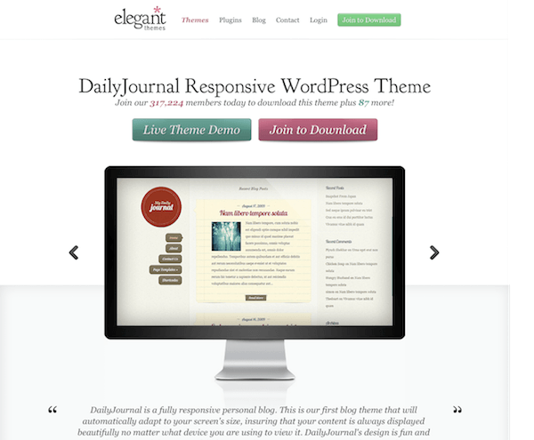 Elegant Themes: DailyJournal WordPress Theme