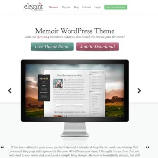 Elegant Themes: Memoir WordPress Theme