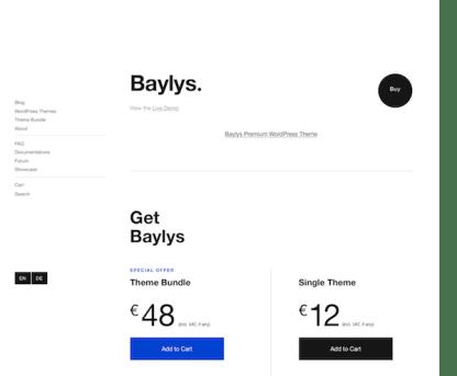 Elmastudio: Baylys WordPress Theme