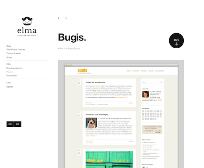 Elmastudio: Bugis WordPress Theme