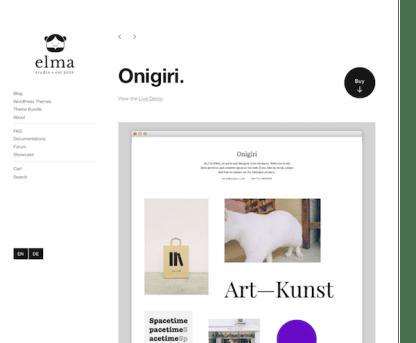 Elmastudio: Onigiri WordPress Theme