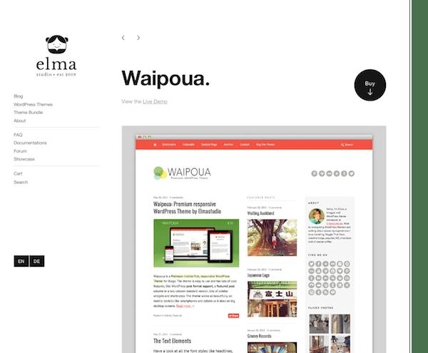 Elmastudio: Waipoua WordPress Theme