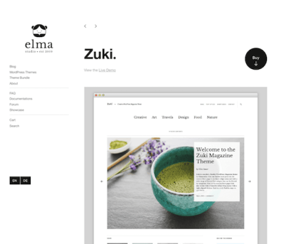 Elmastudio: Zuki WordPress Theme