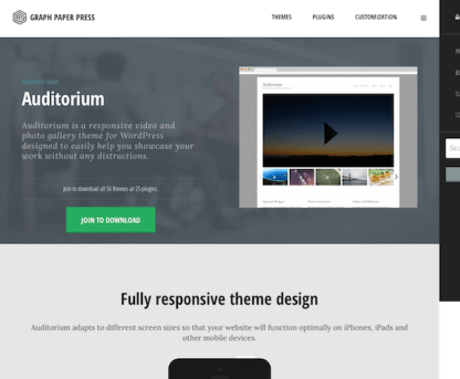 Graph Paper Press: Auditorium WordPress Theme