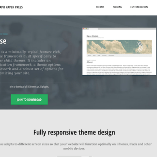 Graph Paper Press: Base WordPress Theme