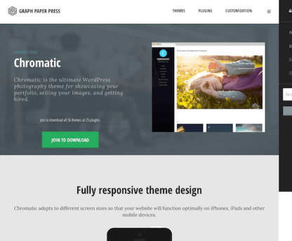 Graph Paper Press: Chromatic WordPress Theme
